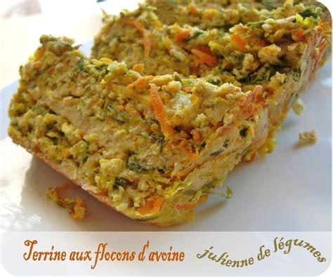 cuisiner flocon d avoine terrine aux flocons d avoine et julienne de l 233 gumes cuisine et d 233 pendances