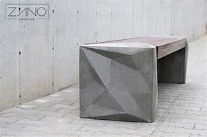 Trigono Bench 02.434 made of architectural concrete | ZANO ...