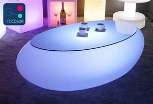 Table Basse Galet Led : table basse lumineuse led multicolore sans fil stone ~ Melissatoandfro.com Idées de Décoration