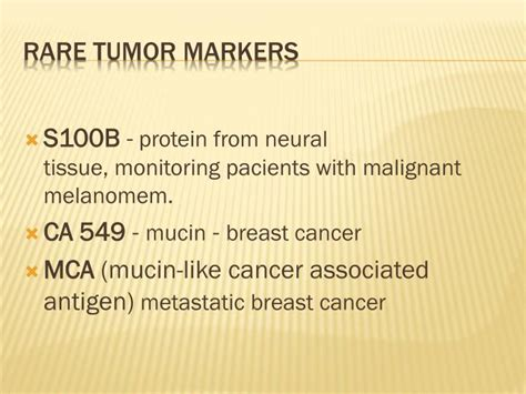 ppt tumor markers powerpoint presentation id 6610494