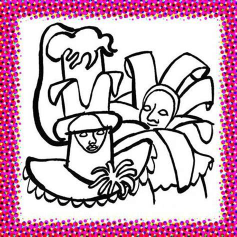 diferentes dibujos  colorear del carnaval de venecia colorear imagenes