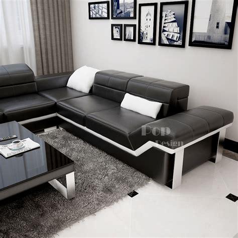 canapé en l canapé d 39 angle en cuir design torino l pop design fr