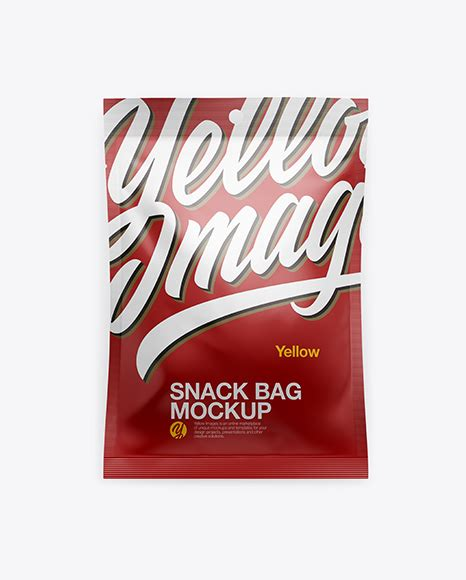 Another realistic mockup by pixpine, free chips bag packaging mockup. Glossy Snack Bag Mockup - Metallic Snack Bag Mockup ...