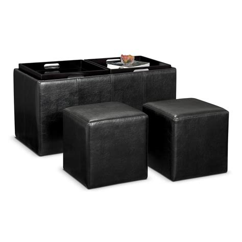 Storage Ottomans With Trays - 3 pc storage ottoman with trays value city