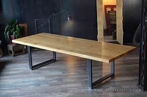 Table Bois Massif Brut : meuble de style industriel table basse meuble tv micheli design ~ Teatrodelosmanantiales.com Idées de Décoration