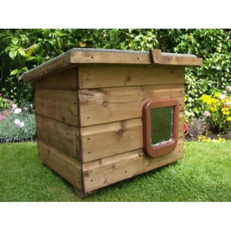 Outdoor Cat House, Weatherproof Cat Kennel For Outside Use