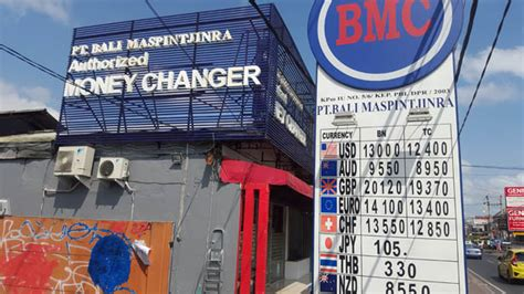 bureau de change monnaie argent banques et bureaux de change 224 bali lebaliblog
