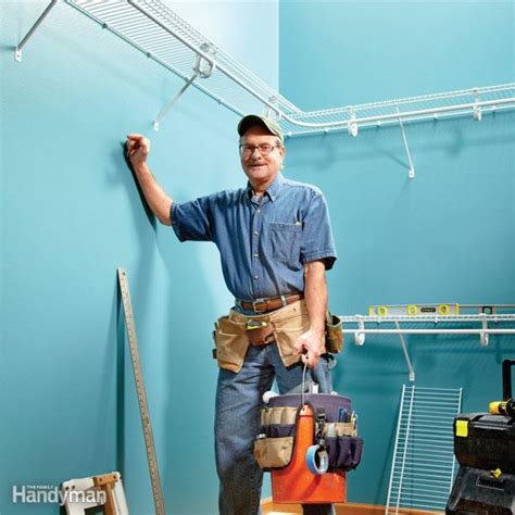 Installing Closetmaid Shelving by How To Install Wire Shelving The Family Handyman