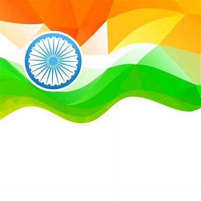 Flag Indian Vector Independence Wave Ai Clipart