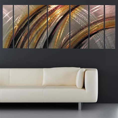 solar flare  large modern abstract metal wall art