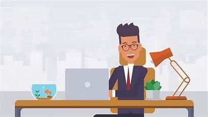 Vyond Teach Desk Animated Laptop Netflix His