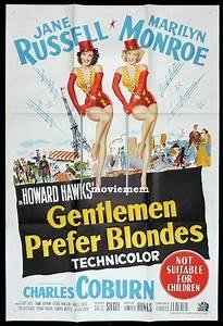 GENTLEMEN PREFER BLONDES Original One sheet Movie Poster ...