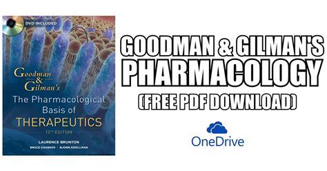Goodman & Gilman's PharmacologyFree Download Direct