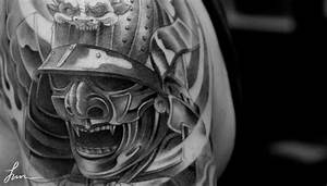 #Japanese #tattoo of a #Samurai mask and helmet - #tattoos ...
