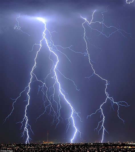lightning bolt holy striking city with bolts of lightning the moment nature taught las