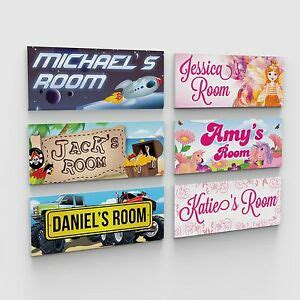 personalised bedroom childs childrens kids door plaques