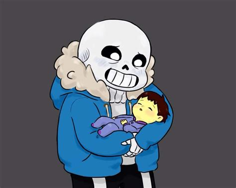Sans Holding Baby Me