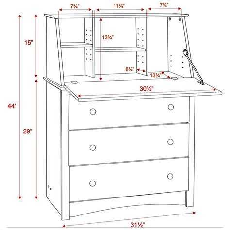 prepac sonoma drop front wood secretary desk in black ebay