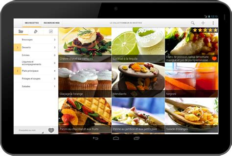 liste de recette de cuisine le collectionneur de recettes logiciel de recettes et