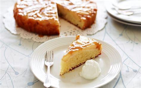 spiced pear  streamline apricot jam frangipane cake
