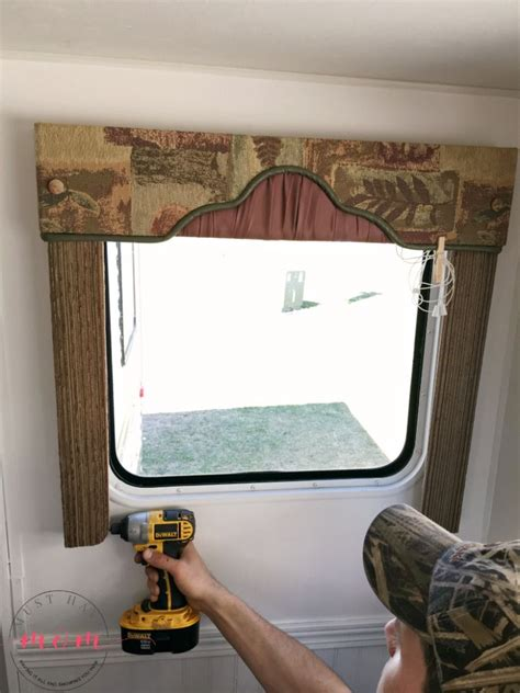 Bedroom Valances Sale by How To Remove Outdated Rv Window Coverings Rv Deco