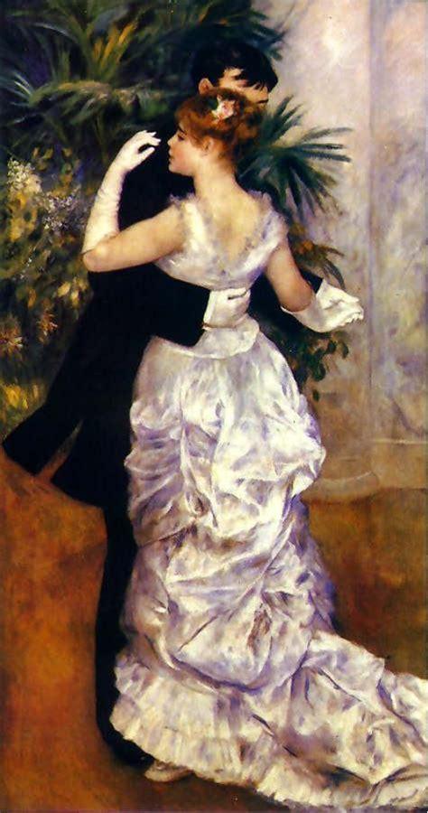 Pierre Auguste Renoir Dance In The City Painting Framed