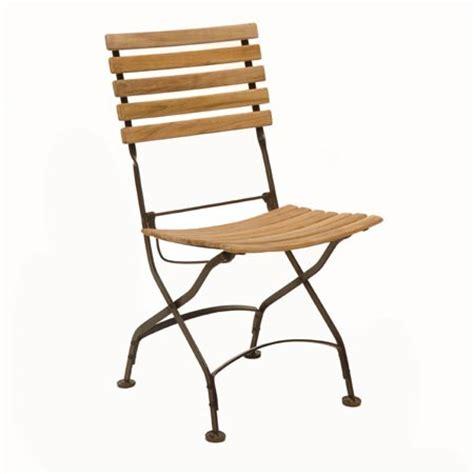 chaise pliante fer forgé chaise pliante en fer forgé et teck fsc lot de 2