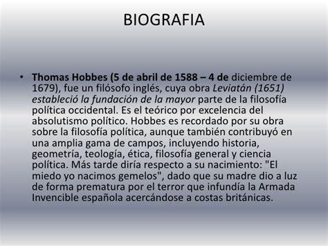 Biografia De Resumen by Hobbes