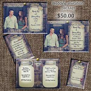 rustic wedding invitation package save the date invitation With cheap wedding invitations and save the dates packages