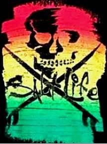 rasta skull   clip art  clip art
