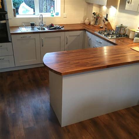 kitchen with hardwood floor pictures solid iroko worktops with kashmir shaker doors modern 8751