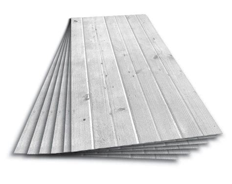 lot of 6 drop in ceiling tiles panels white wash wood