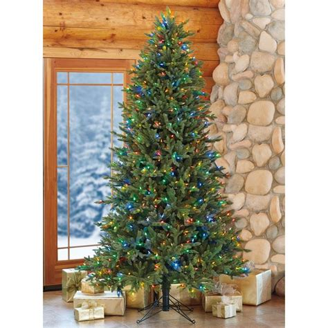 xmas trees at costco aspen 12ft 3 6m pre lit 1 350 led dual colour artificial tree costco uk