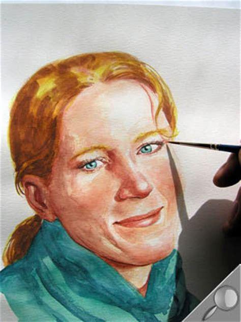 travailler  portrait en aquarelle latelier canson