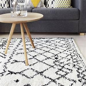 tapis style berbere a la fois authentique et contemporain With tapis berbere noir et blanc
