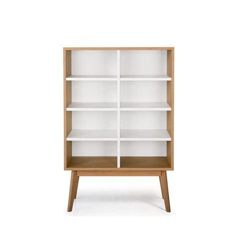 etagere rangement chambre bibliothèque scandinave en bois 8 niches skoll by drawer fr