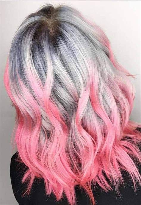 rosa haare selber färben farb haar modelle bunte haare hair styles hair color pink und dyed hair