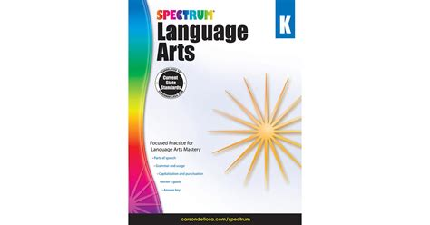 Spectrum Language Arts Gr K  Cd704587  Carson Dellosa