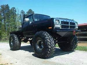 Black Lifted Old Body Dodge First Gen Cummins with Big Mud ...