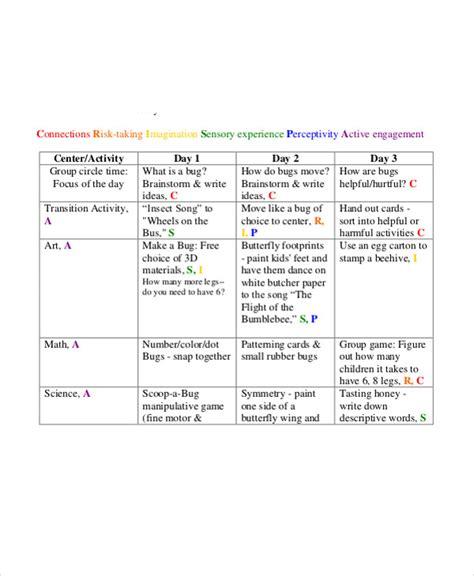 40 lesson plan templates free amp premium templates 910 | Preschool Science Lesson Plan