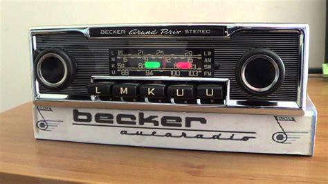 radio becker grand prix stereo mercedes w115 youtube