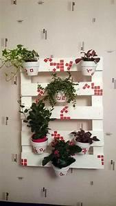Cache Pot Mural : support mural cache pots en palette vertical pallet ~ Premium-room.com Idées de Décoration