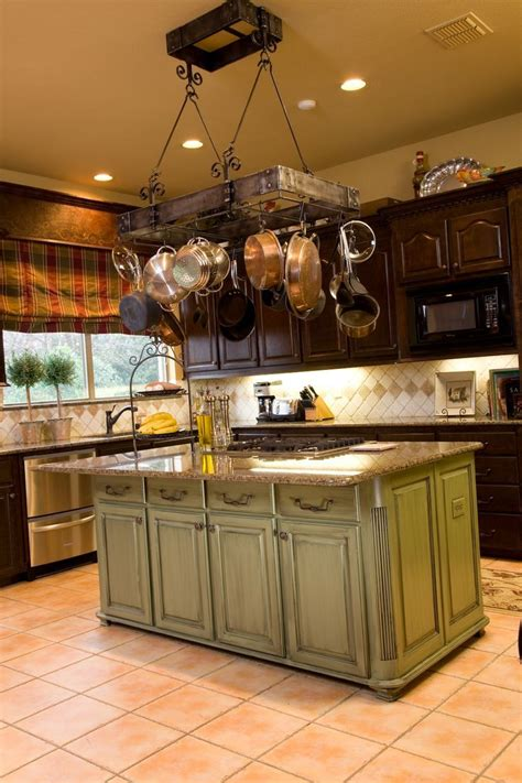 pot  pan hanger  kitchen rustic kitchen cabinets