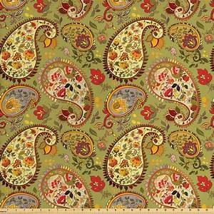 paisley fabric by the yard colorful eastern