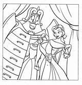 Coloring Disney Princess Belle Pages Printable Beast Beauty Da Colorare Disegni Principesse Books Delle sketch template