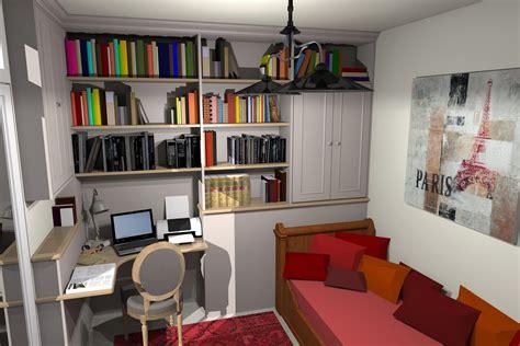 un bureau une biblioth 232 que et une chambre d amis dans