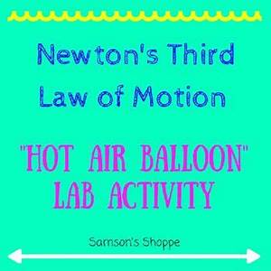 This is a laboratory activity to demonstrate Newton's 3rd ...