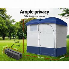 Weisshorn Double Camping Shower Toilet Tent Outdoor