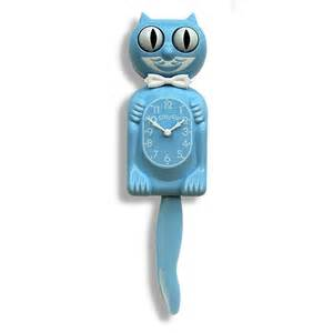 cat clock baby blue kitty cat clocks