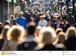 Crowd Of People Walking On City Street Stock Photo - Image ...